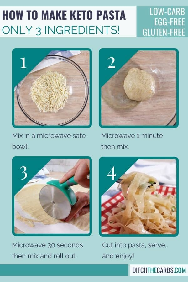 How to make Keto pasta in just few minutes.